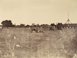 Parade [ground in the cantonment], Benares.